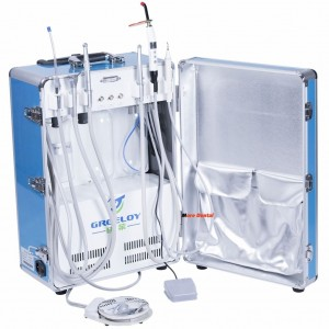 Dental Portable Unit+Air Compressor+Triplex Syringe+Curing Light+Piezo Scaler 4H