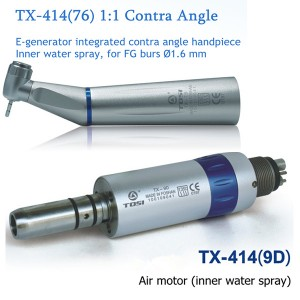 Tosi High Speed E-Generator Inner Water Spray Contra Angle Air Motor Kit