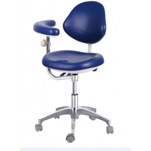 Dental Medical Dr's Stools Assistant's Stools With Adjustable Assist Support PU