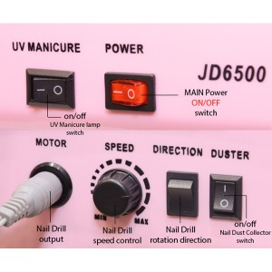 Electric Nail Drill Dust Collector & UV lamp 3 in 1 Micro Motor
