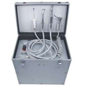 Portable Dental Unit Turbine+Air Compressor+Suction System+Triplex Syringe 4Hole